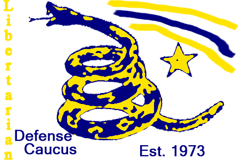 The Libertarian Defense Caucus emblem for 2010
